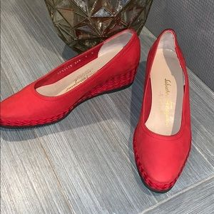 Salvatore Ferragamo Red Shoes Size 7 B